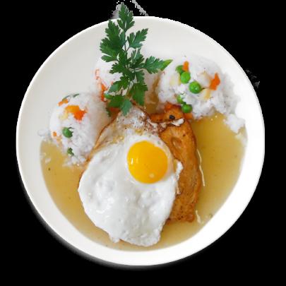 Kuracie prsia s volským okom,výborná zeleninová ryža