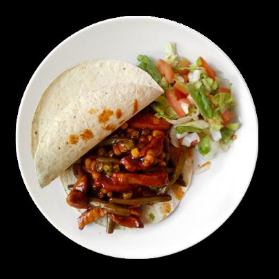 Morčacie mexické mäsko,bezlepkové tortilly