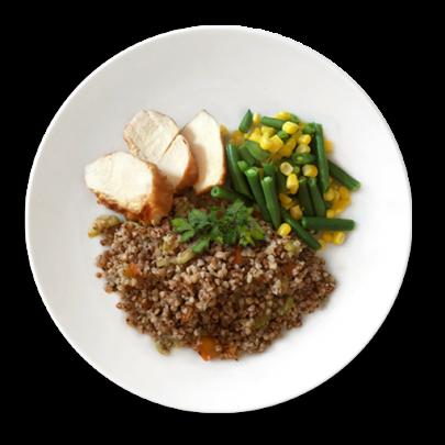 Kuracie prsia na grile s pohankou a zeleninou