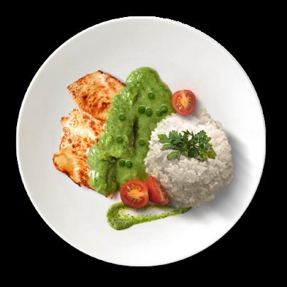 Kuracie prsia s brokolicovým krémom a ryžou