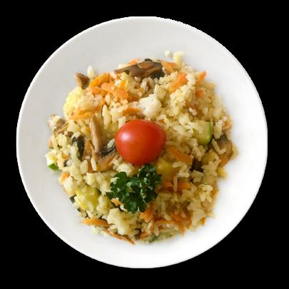 Ľahké zeleninové rizoto s opečeným kuracím mäskom