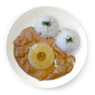 Kuracinka ala piňa colada, ryža